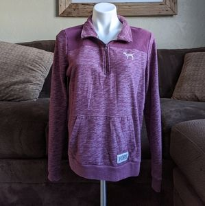 Victorias Secret PINK Purple Pullover Size Medium